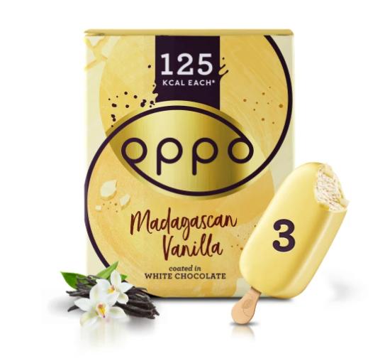 Oppo White Chocolate 80ml. 3 stk. - 6 ein í pk